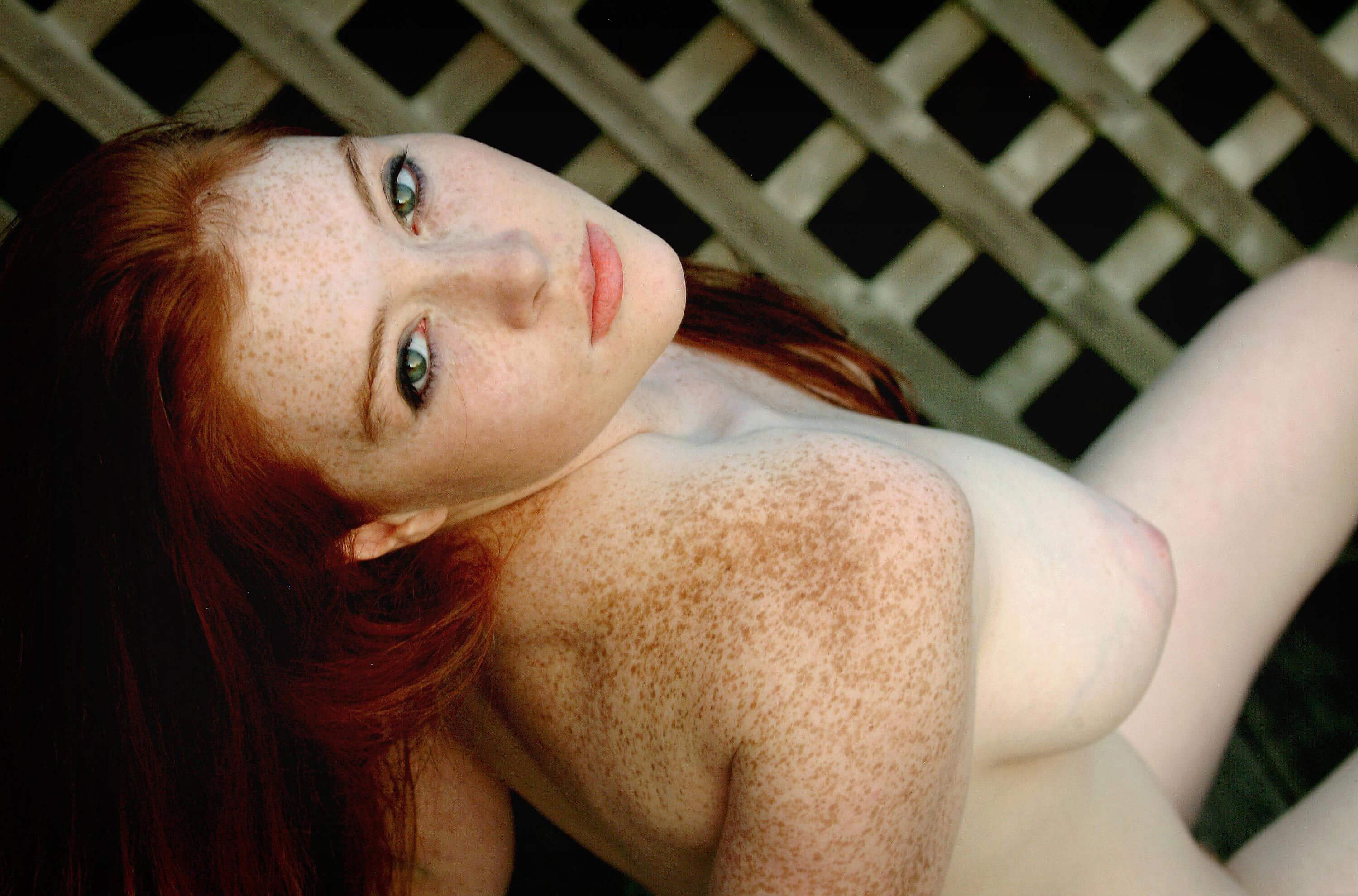 Those pussy nude redhead with freckles