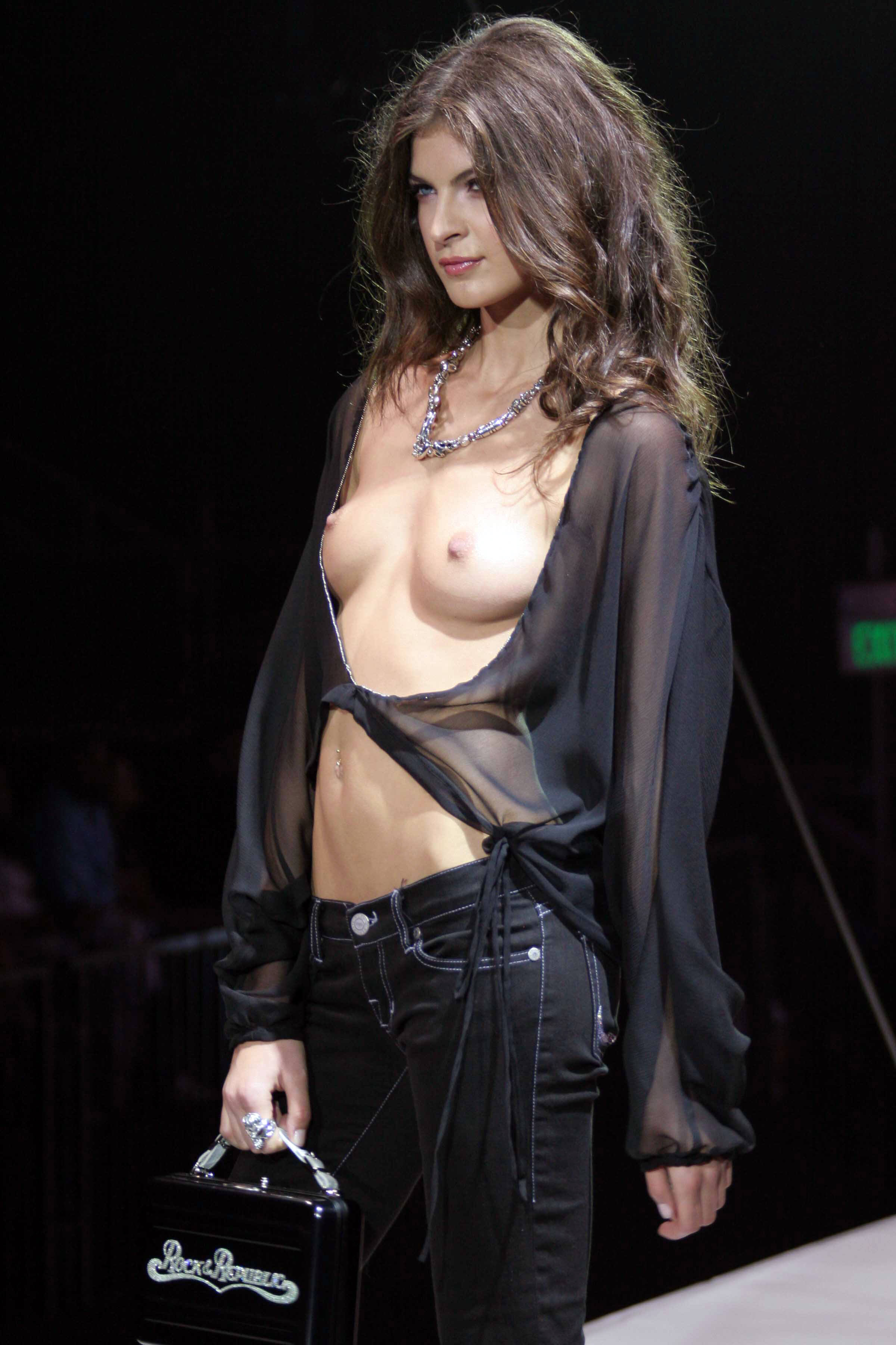 Topless fashion show